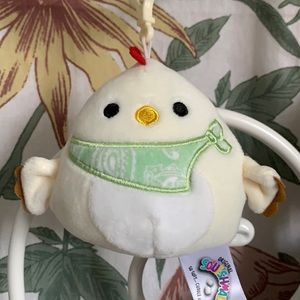 """3.5"""" Todd the chicken Squishmallow Clip NWOT"""
